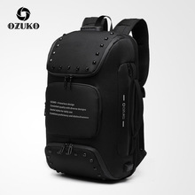 NEW OZUKO Multifunctional Backpack Men 15.6 inch Anti-theft Laptop Backpack Lock Design Business Travel Male Waterproof Mochilas