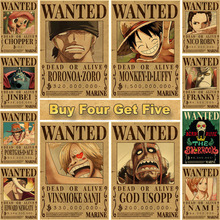 Decorative Painting Wall-Stickers Kraft-Paper Wanted-Posters Prints-Bar Cafe One-Piece