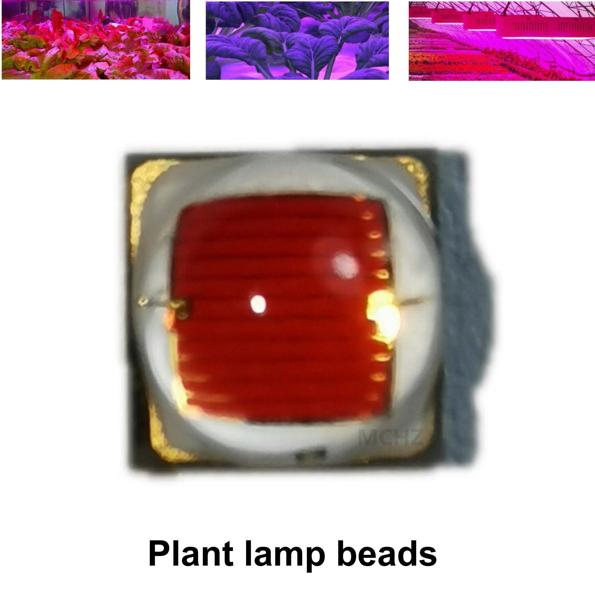 20PCS OSRAM 3030 Lens 4.7W 650nm 660nm 6W 455nm 6000K 4000K  Lamp Beads For Plant Growth