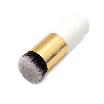 10pcs gordinho cais fundacao escova creme liso pinceis de maquiagem profissional cosmeticos make up escova