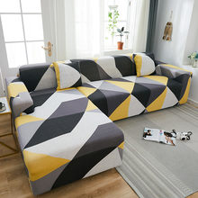 Geometric Elastic Sofa Cover for Living Room Sofa Protector Anti-dust elastic stretch covers for corner Slipcover 1/2/3/4-seat