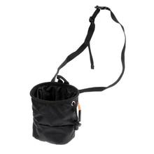 Cuboid Waterproof Climber Climbing Bouldering Chalk Bag w/ Waist Belt Pocket for Indoor and Outdoor Climbing Lifting Bouldering