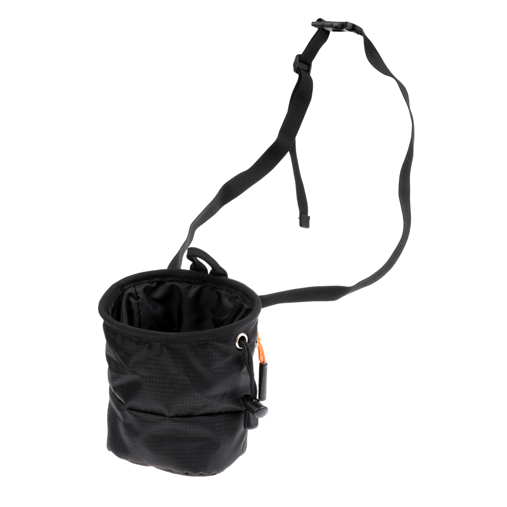 Cuboid Waterproof Climber Climbing Bouldering Chalk Bag w/ Waist Belt Pocket for Indoor and Outdoor Climbing Lifting Bouldering image