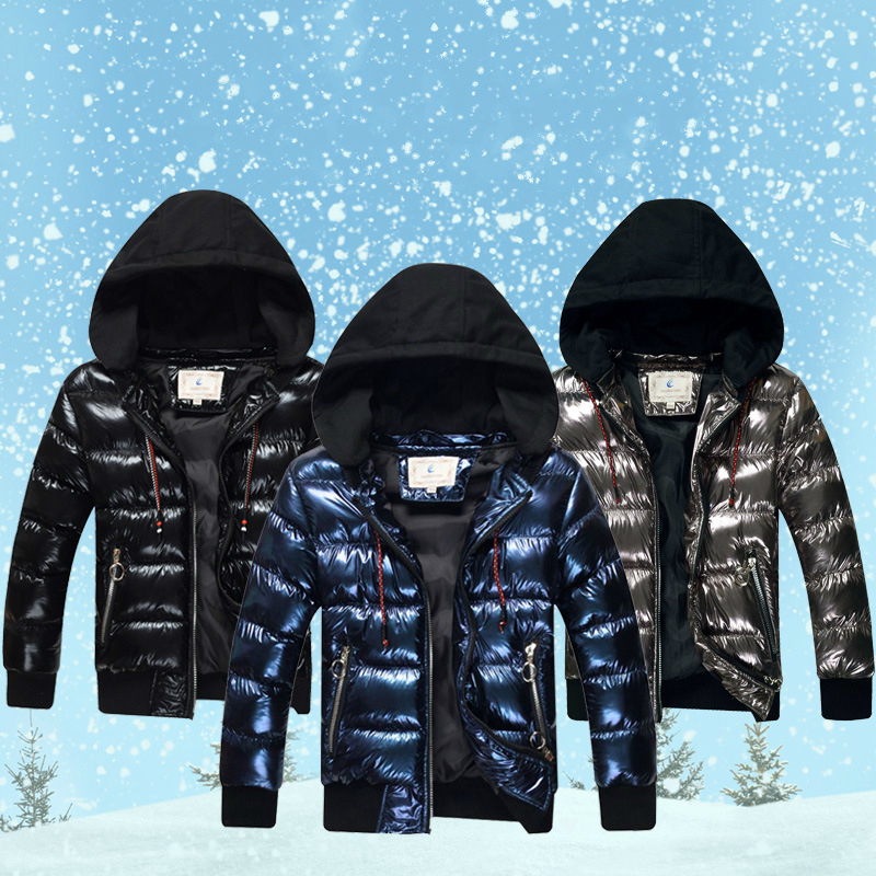 Benemaker Waterproof Winter Jackets For Teenager Boys Girls Snowsuit Hooded Bronzing Thicken Warm Coats Fashion Outerwear YJ117