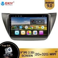 """EKIY 9 """"Android 9,0 Auto Radio Multimedia Auto para MITSUBISHI LANCER IX 2006-2010 navegación GPS estéreo de Audio y vídeo, reproductor de DVD"""
