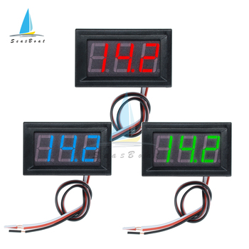 0.56 Inch DC 0V to 30V Digital Voltmeter Voltage Panel Meter 3 Wires Red/Blue/Green For 6V 12V Electromobile Motorcycle Car image