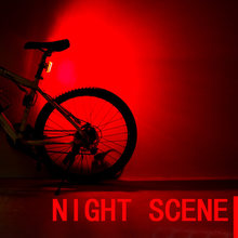 5 LEDs Safety Bike Light Cycling Taillight Waterproof Driving Night Bycicle Lamp Energy Saving USB Rechargeable Safety Warning(China)
