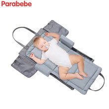 Модная детская дорожная кроватка красивая кровать мягкая переносная
