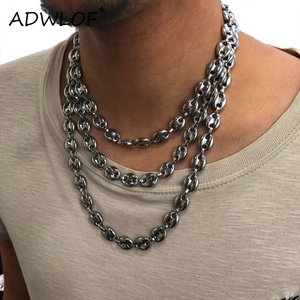11MM Stainless Steel Coffee Beans Link Chain Necklace Fashion Necklaces Hip Hop Jewelry