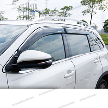 lsrtw2017 ppma car window rain shield for toyota highlander 2013 2014 2015 2016 2017 2018 2019 XU50 guard visor light transmission wind deflector for toyota rav4 rav 4 2013 2014 2015 2016 2017 rain window visor for toyota rav4 2013 2017
