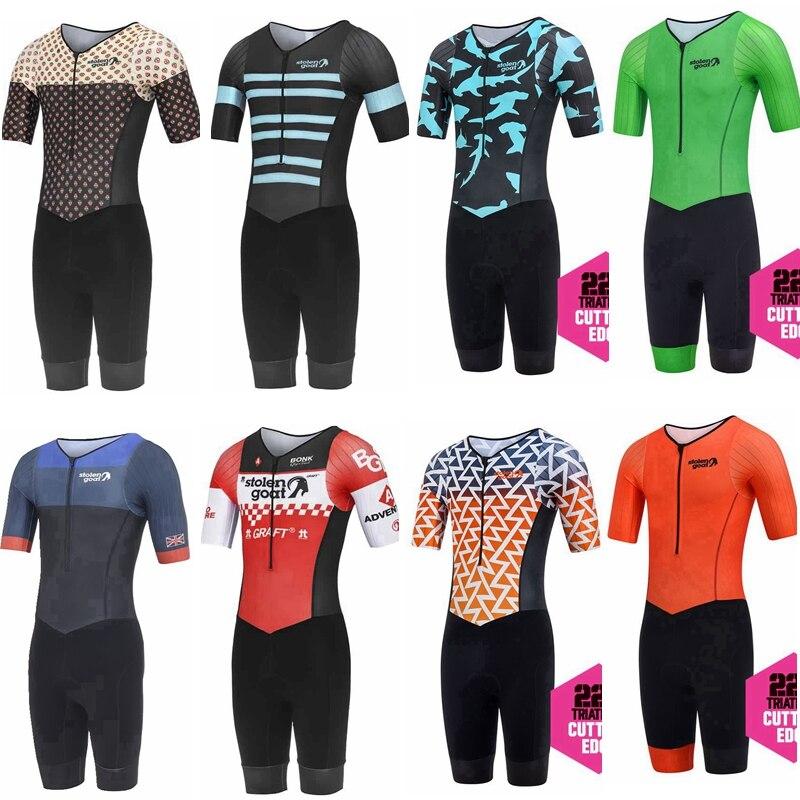 High Quality Cycling Skinsuit 2019 Short Sleeve Men's Triathlon Mtb Bike Sport Cloths Maillot Ciclismo Jumpsuits Road Bike Suits