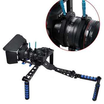Adjustable Zoom Focusing Follow Focus Handle Scale Lever with Gear Ring for Camera Lens Material: ABS+Aluminum alloy - discount item  19% OFF Camera & Photo