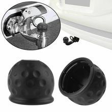Шар для трейлера крышка головки Европейский автомобиль 7-Hole вилка трейлер адаптер грузовик RV разъем шнура питания Разъем Черный резиновый Towball Prote