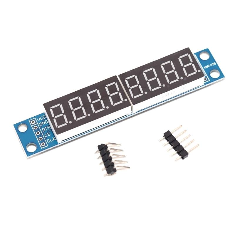 MAX7219 LED Dot matrix-módulo de control de pantalla digital de 8 bits, 3,3 V, 5V, controlador de serie, 7 segmentos