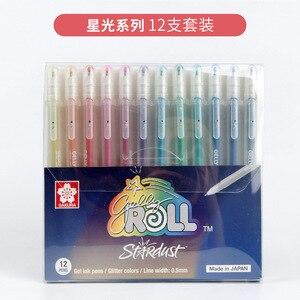 Image 5 - 12 màu sắc STARDUST Lấp Lánh Bôi Gelly CuộN Vỉ Thẻ Màu Bút Gel Bộ Đứng Yên cho Thêu Sò Vẽ Doodling Nghệ Thuật Đánh Dấu