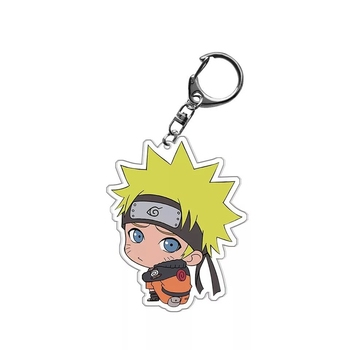 Cartoon Anime Keychain Acrylic Double Sided Transparent key Chain Ring  2