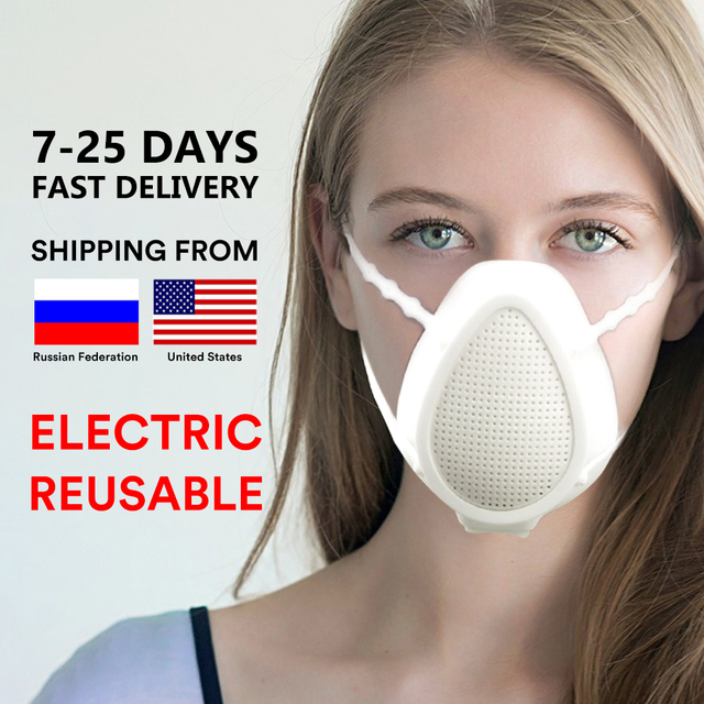 2020 Electric mask Proof Flu kind Face Masks  5 layers purifications  composite filter mask Silicone mask sport mask