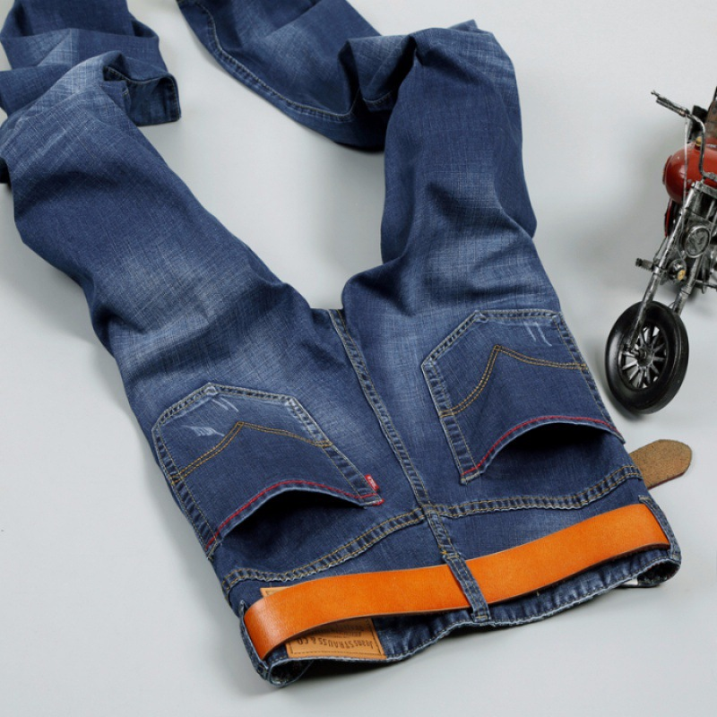 Elasticity Thin Casual Jeans Men's Korean-style Trend Slim Women's Skinny Pants MEN'S Pants Youth 603p45