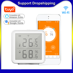 Tuya WIFI Smart Temperature Humidity Sensor Indoor Hygrometer Thermometer 230ft Wireless Intelligent Linkage For Smart Home