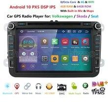 8 inch Android 10 RAM 4GB ROM 64GB Car Multimedia Player Player for VW Golf 5 Caddy Passa B6 Seat Leon GPS WIFI Car DVD