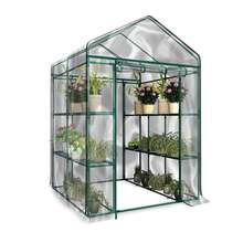 Portable Greenhouse Cover 143X143X195cm Garden Cover PVC Material Plants Flower House Waterproof Corrosion-resistant Durable