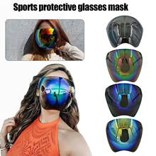 Faceshield Protective Cycling Sunglasses Women Men Bicycle Eyewear Full Face Safety Glasses Anti-Frog Mask Bike Riding Goggles