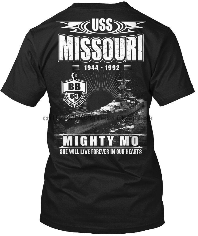 Мужская футболка USS Миссури bb 63 Женская Мужская футболка