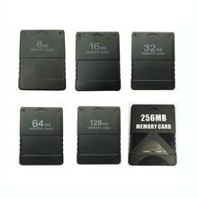 8 M/16 M/32 M/64 M/128 M/256 M การ์ดหน่วยความจำข้อมูลเกม Stick สำหรับ Sony PlayStation 2 PS2 ขยายการ์ดเกม Saver