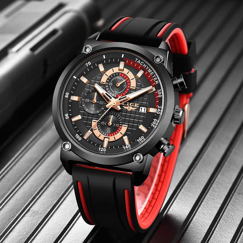 Reloj Masculino LIGE cronógrafo deportivo para hombre reloj de cuarzo militar de alta calidad de lujo superior resistente al agua el mejor regalo para hombre