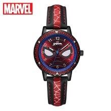 Buy MARVEL Avengers Spider-men Hero Dream Child Cool Disney Cartoon Wrist Watch Boy Love PU Waterproof Quartz Fashion Watch Students directly from merchant!