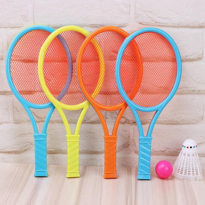 Badminton Tennis Rackets Balls Set Children Kids Outdoor Parent-Child Sports Educational Game Toys