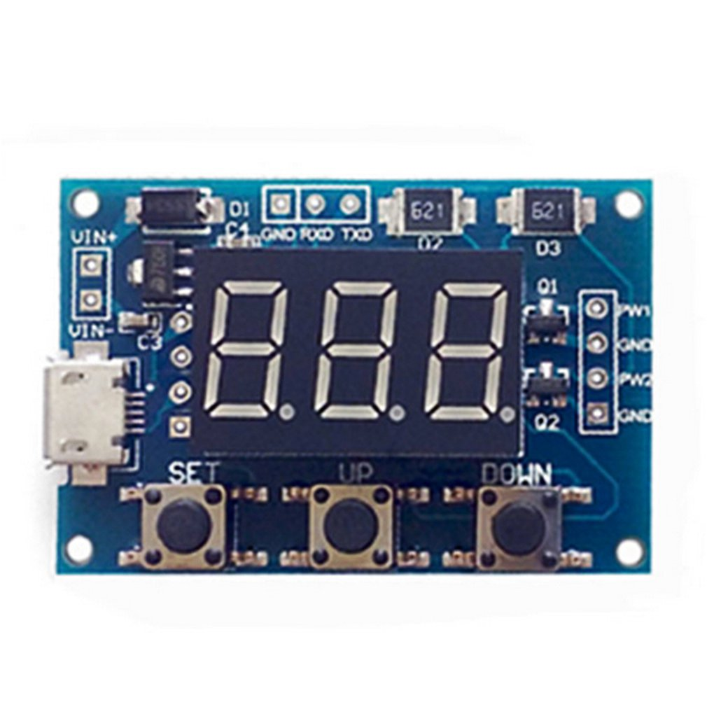 Power Independent PWM Signal Generator 2 Channel Dual Way Digital LED Duty Cycle Pulse Frequency Board