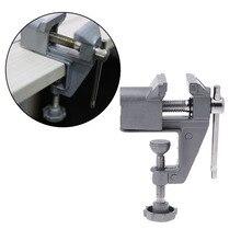 Mini Bench Vise Table Screw Vise Aluminium Alloy 30mm Bench Clamp Screw Vise for DIY Craft Mold Fixed Repair Tool