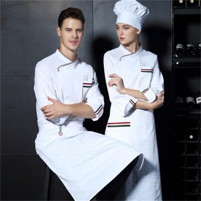 New Arrival Autumn & Winter Hotel Restaurant Kitchen Man Chef Jacket Long-sleeve Work Wear Uniform Cook Clothes
