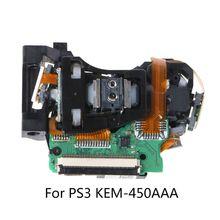כפול עין עדשה אופטית ראש החלפת PS3 KEM 450AAA משחק קונסולת לבן 95AD