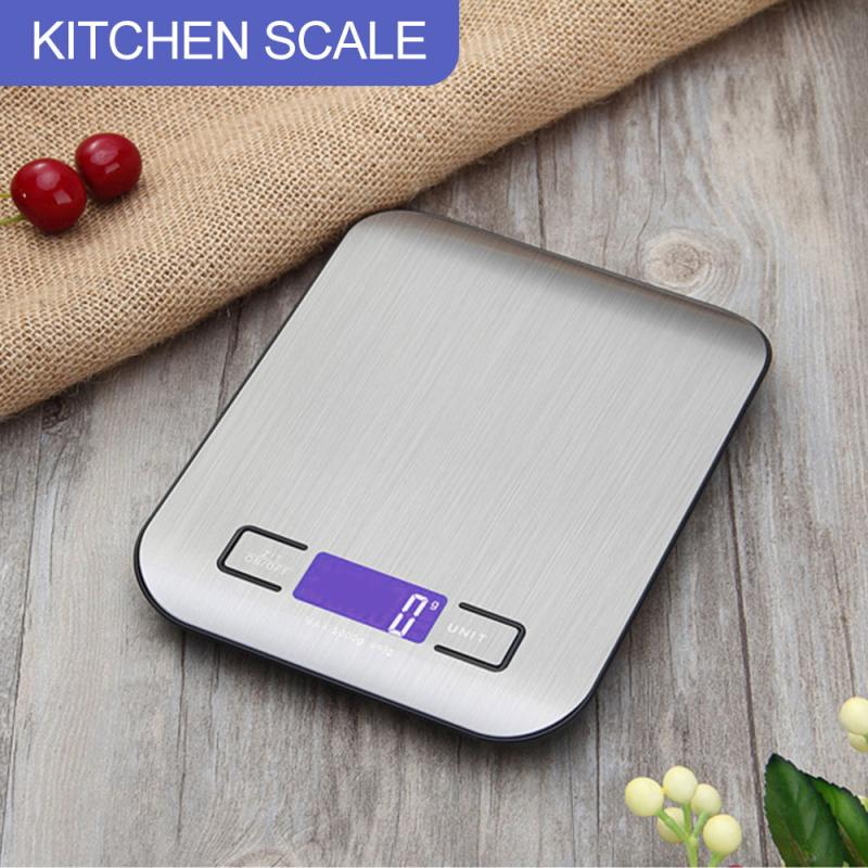 5kg Electronic Kitchen Scale Digital Food Scale Stainless Steel Measuring Tool Weighing Scale LCD High Precision Measuring Tools Kitchen Scales    - AliExpress
