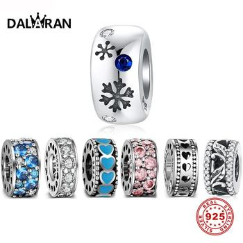 DALARAN Authentic 925 Sterling Silver Charms Stopper Spacer Beads Fit Pandora Charm Bracelet & Necklace DIY Fine Jewelry Charms choruslove jack o lantern charms authentic 925 sterling silver pumpkin coach carriage beads fit pandora halloween diy bracelet