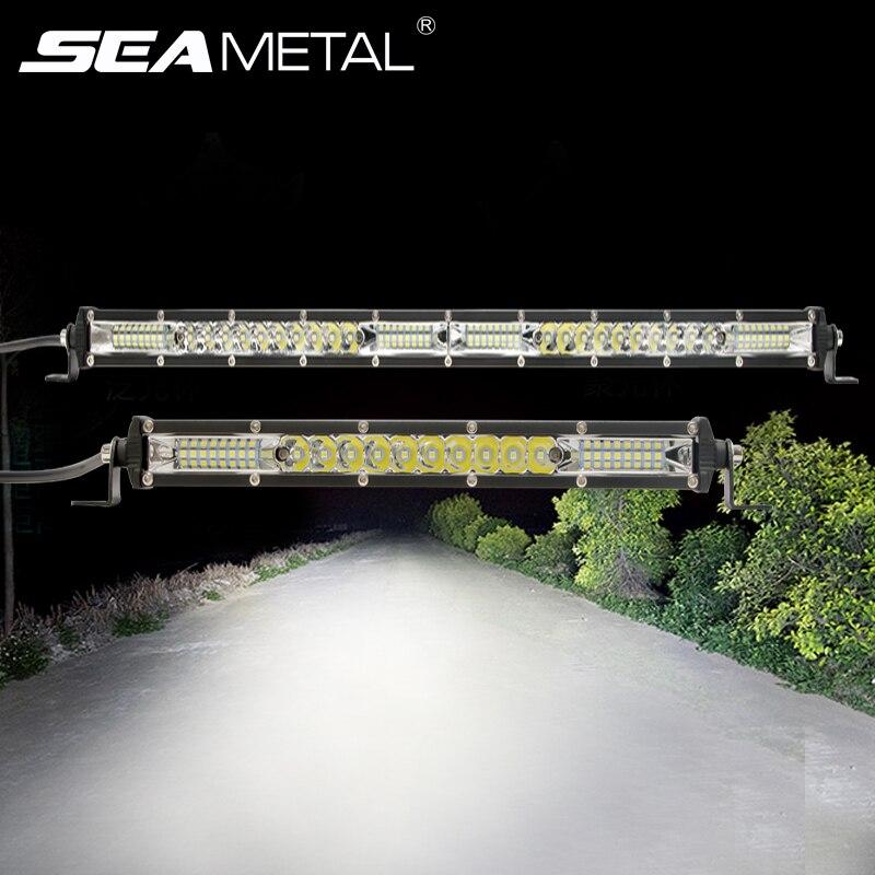 """Barra de luz Led de 10 """"20"""" pulgadas 12v -24V, luces de circulación diurna, foco de inundación combinado, lámpara de trabajo LED para camiones, luces de conducción de Tractor"""