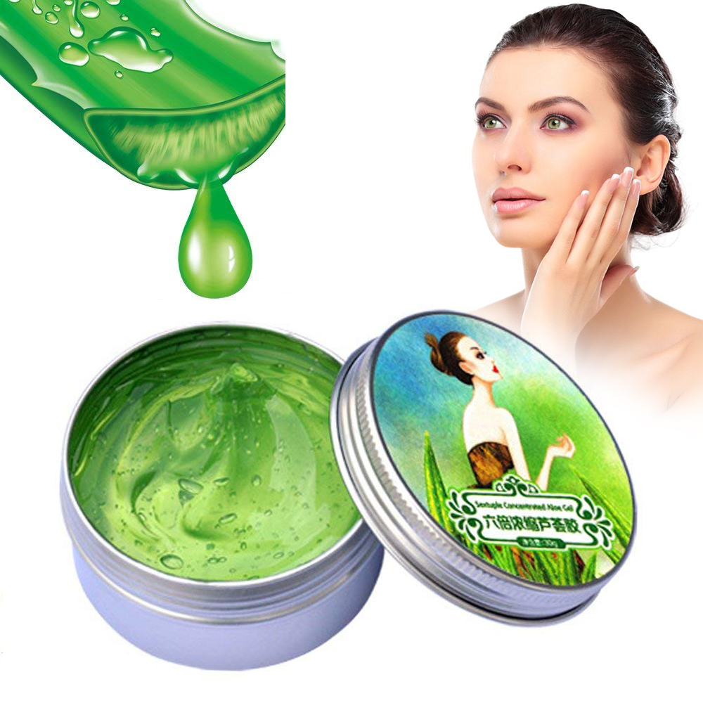 Naturals 6 Times Concentrated Aloe Vera Gel Cream Acne Treatment Remove Acne Oil Control Soothing&Moisture Face Care TSLM1