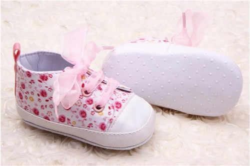 ยี่ห้อใหม่ทารกแรกเกิดเด็กทารกดอกไม้นุ่มรองเท้าเด็กทารกเด็กวัยหัดเดิน Anti-SLIP เด็กน่ารักรองเท้า Crib