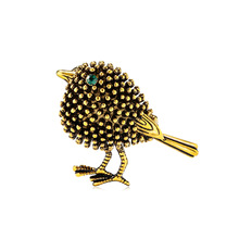 European and American fashion retro cross-border supply personality animal sparrow corsage factory direct spot wholesale