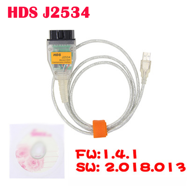 HDS J2534 V2.018.013 עבור הונדה סטנדרטי Obd2 תקשורת USB ממשק תמיכה 1996 וחדשים יותר כלי רכב עם OBDII/DLC3 סורק