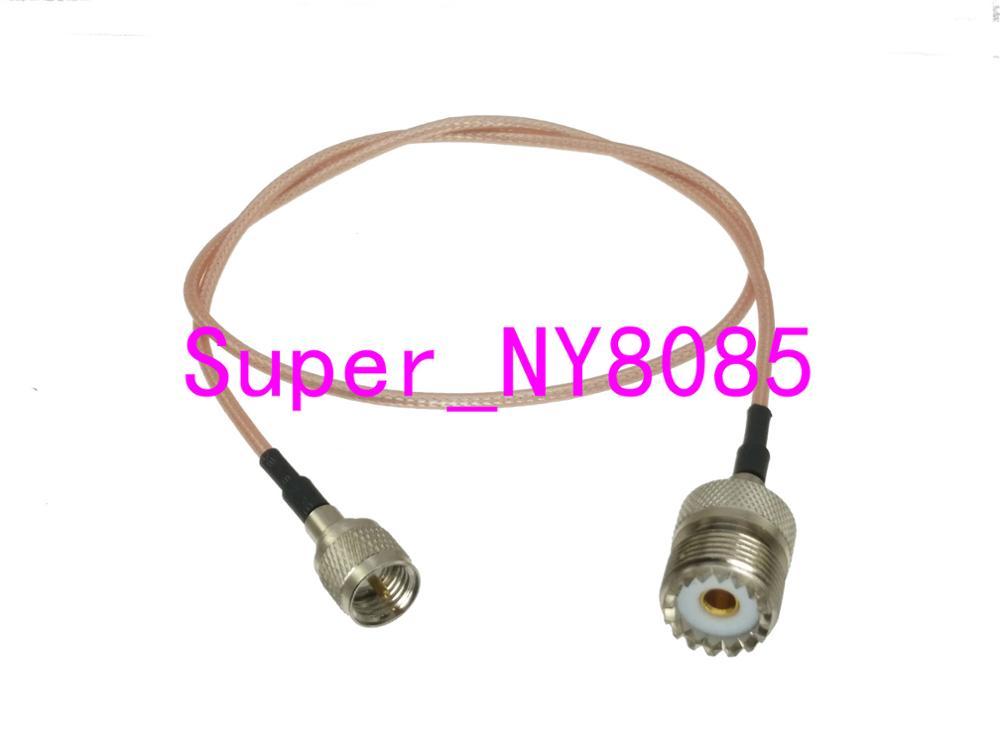 RG316 MINI UHF MALE to N Female Bulkhead Angle Coaxial RF Cable USA-US
