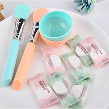 10pcs Face Mask Paper Silicone Mask Brush Mask Mixing Bowl Set Soft Skin Care DIY Mud Mixing Face Mask Women Makeup