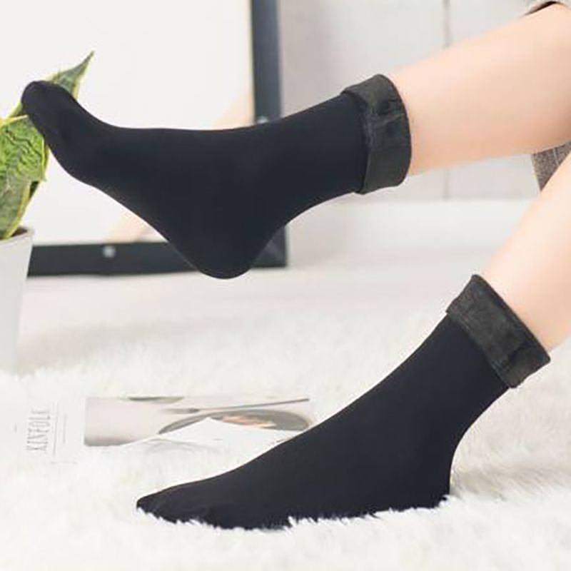 HOT Winter Wamer Women Thicken Thermal Wool Cashmere Snow Socks Seamless Velvet Boots Floor Sleeping Socks For Ladies