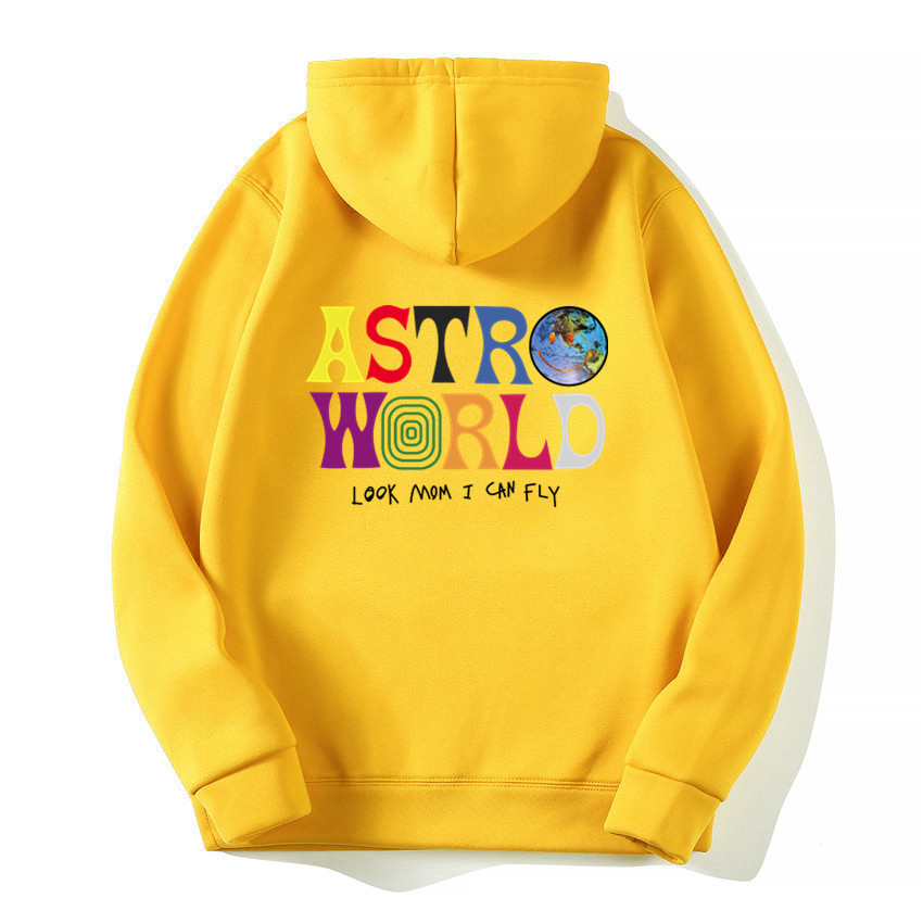 TRAVIS SCOTT ASTROWORLD WISH YOU WERE HERE Hoodies Fashion Letter Print Hoodies Streetwear Man Woman Hip Hop Pullover Sweatshirt