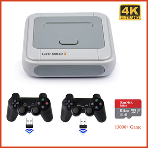 SUPER CONSOLE X WIFI Video Game Consoles Support AV/HDMI 4K HD Output Retro Game Player Built-in 13000+ Games for PSP PS1 N64 MD