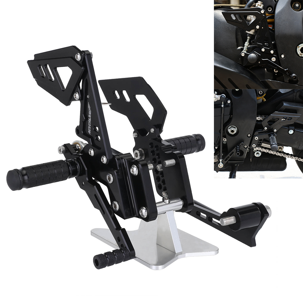 Motorcycle Footrest Rear Foot Pedal Pegs Set For Suzuli GSX R 600 750 GSX R GSXR D40 in Foot Rests from Automobiles Motorcycles