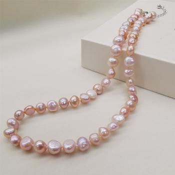 DAIMI naturalna perła słodkowodna naszyjnik w stylu klasycznym czarny biały różowy purpurowe perły naszyjnik dla kobiet tanie i dobre opinie Łańcuszki naszyjniki Kobiety Pearl Perły słodkowodne Brak Zaręczyny Łańcuch liny DMNFP398 PLANT Grzywny 43-45cm Gold-plated