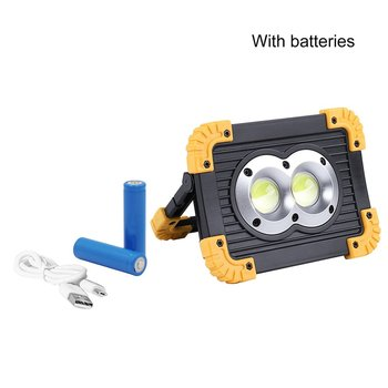 LED Portable Spotlight LED Work Light For Hunting Camping LED Flashlight Outdoor Light Rechargeable 18650 Battery LL-812 yupard 100w 50w flood light searchlight spotlight brightness led flashlight outdoor camping 18650 rechargeable battery charger